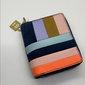 NWT fossil color block wallet